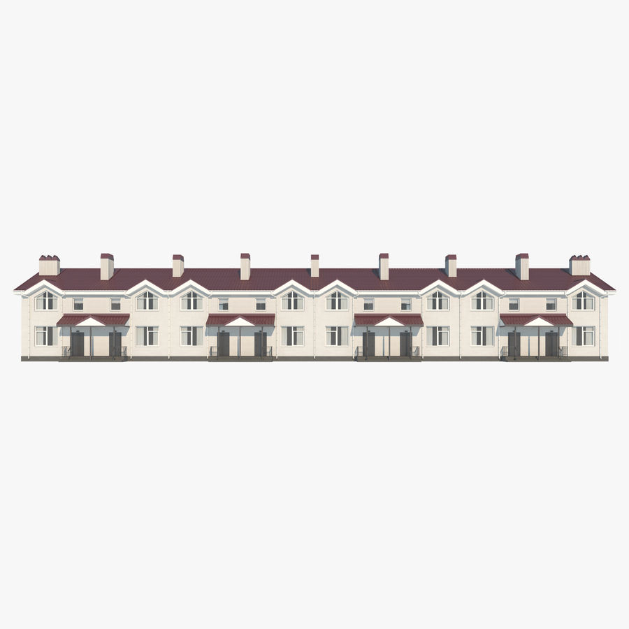 Townhouse royalty-free 3d model - Preview no. 1