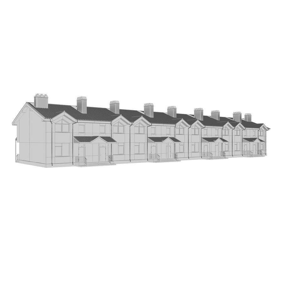 Townhouse royalty-free 3d model - Preview no. 7