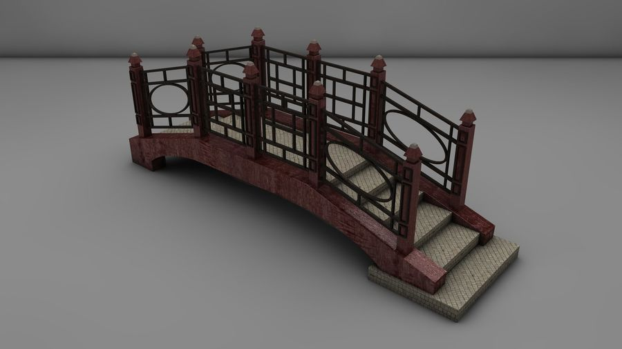 Bridge (2 size) royalty-free 3d model - Preview no. 6