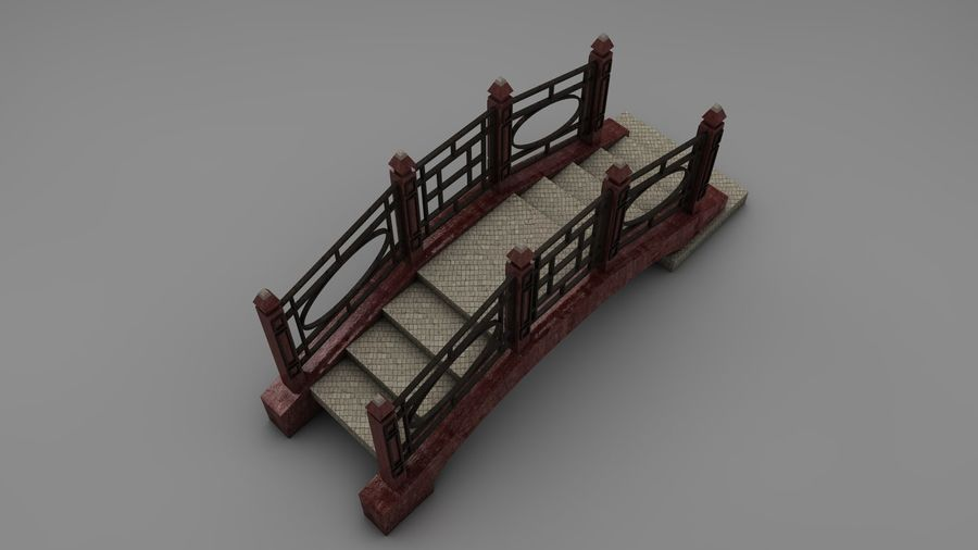 Bridge (2 size) royalty-free 3d model - Preview no. 11