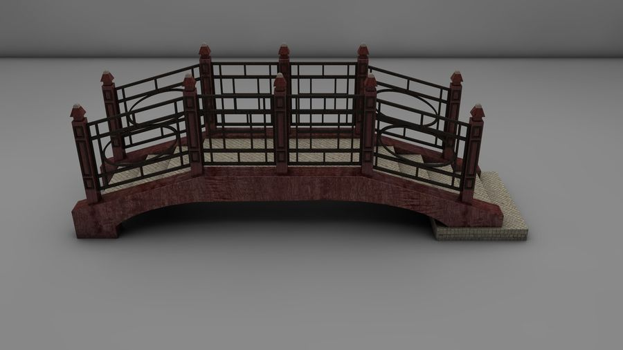 Bridge (2 size) royalty-free 3d model - Preview no. 7