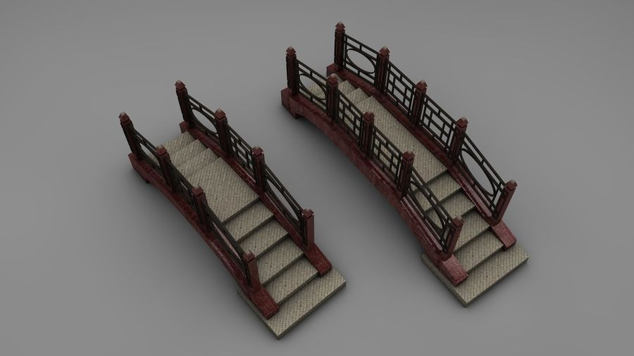 Bridge (2 size) royalty-free 3d model - Preview no. 2