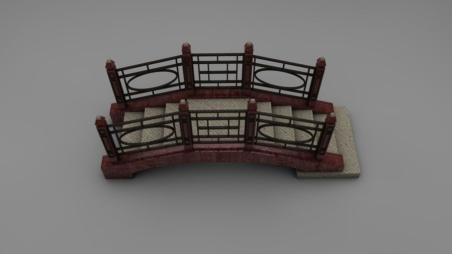 Bridge (2 size) royalty-free 3d model - Preview no. 10