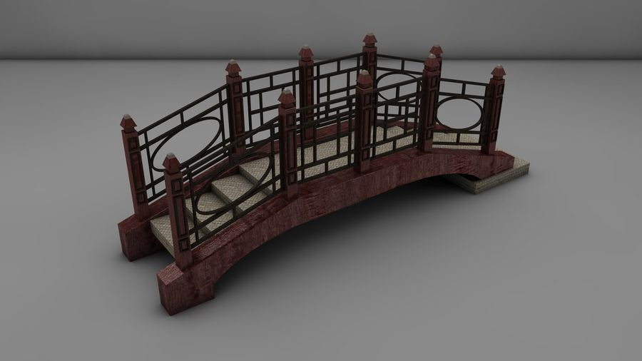 Bridge (2 size) royalty-free 3d model - Preview no. 8
