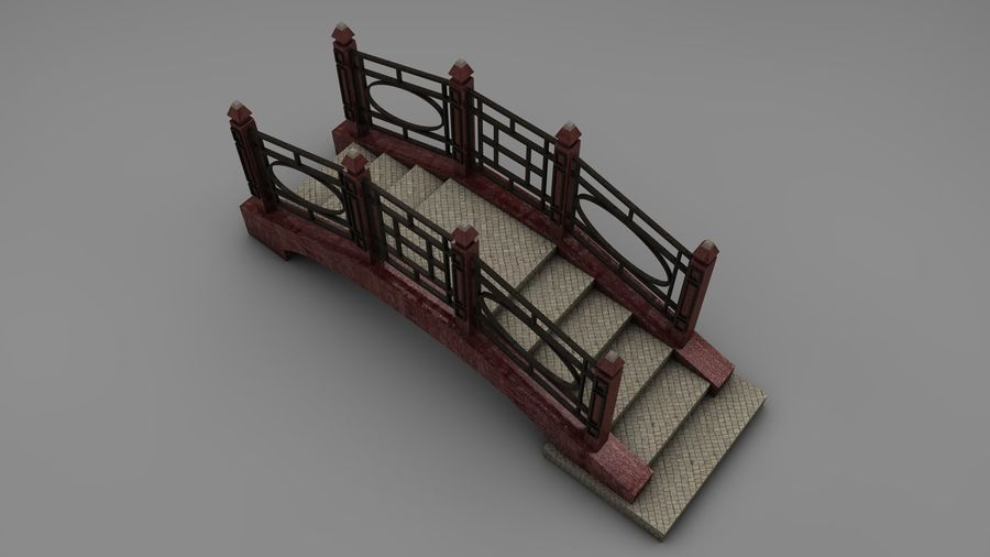 Bridge (2 size) royalty-free 3d model - Preview no. 9