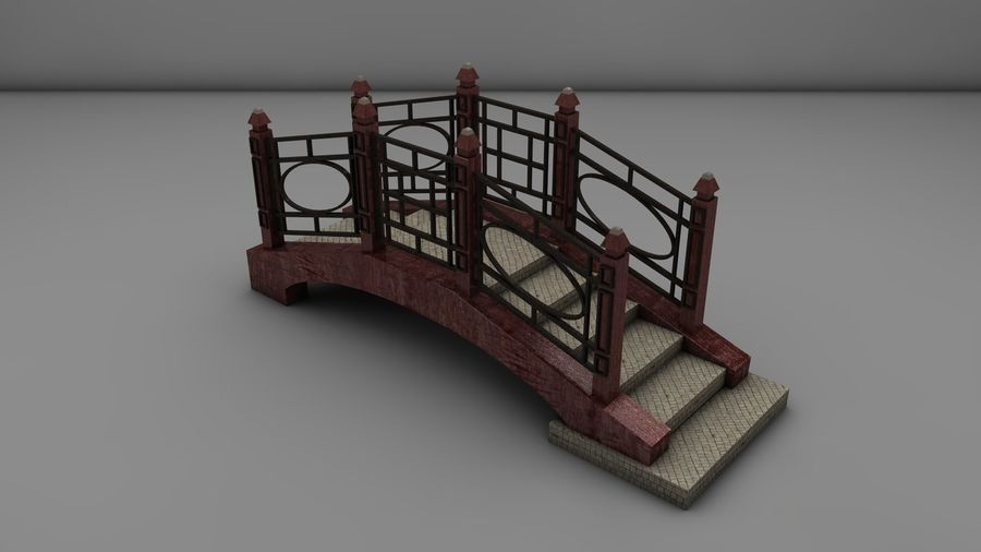 Bridge (2 size) royalty-free 3d model - Preview no. 3