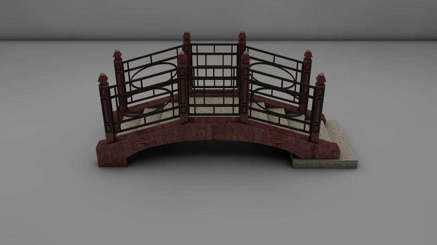 Bridge (2 size) royalty-free 3d model - Preview no. 4