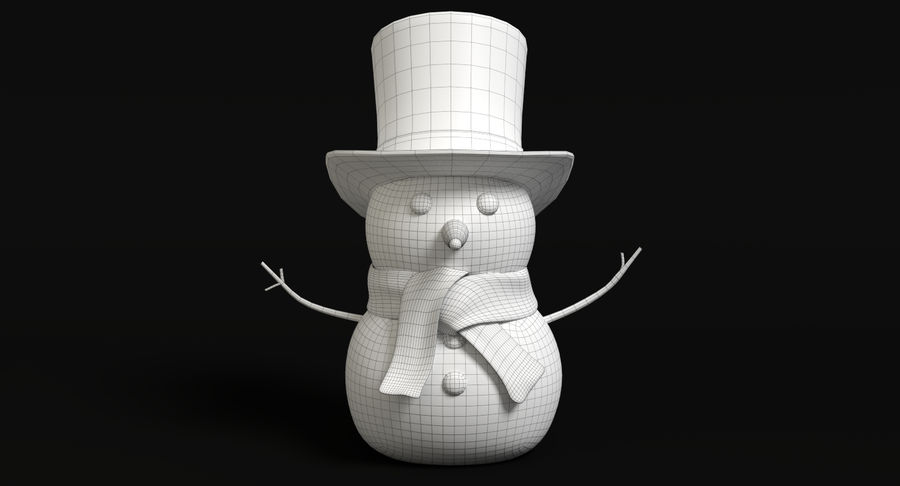 Snowman 2 royalty-free 3d model - Preview no. 9