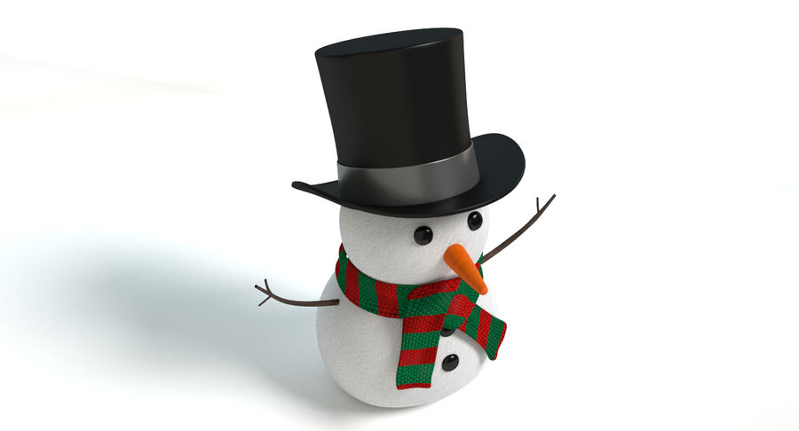 Snowman 2 royalty-free 3d model - Preview no. 5