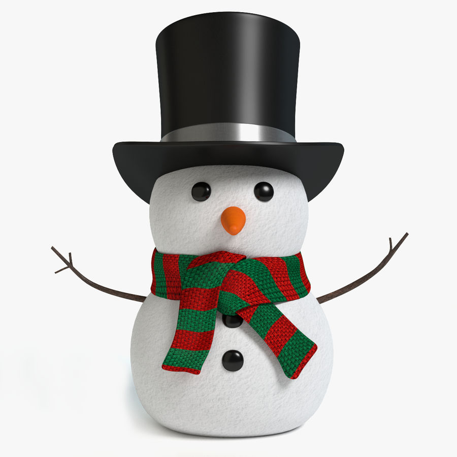 Snowman 2 royalty-free 3d model - Preview no. 1
