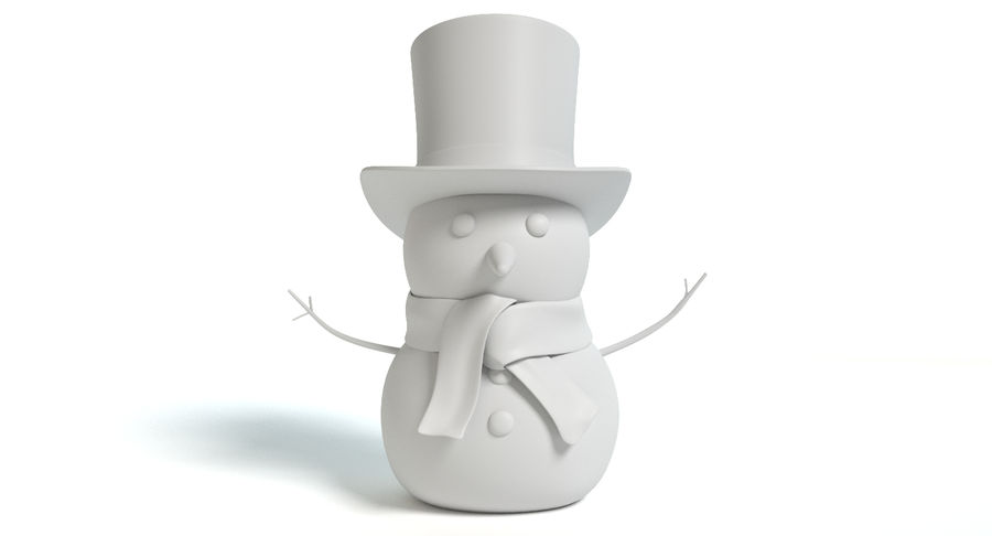 Snowman 2 royalty-free 3d model - Preview no. 7