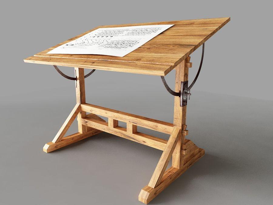 Scrivania Da Disegno : Tavolo da disegno dsmax modello d ds max free d