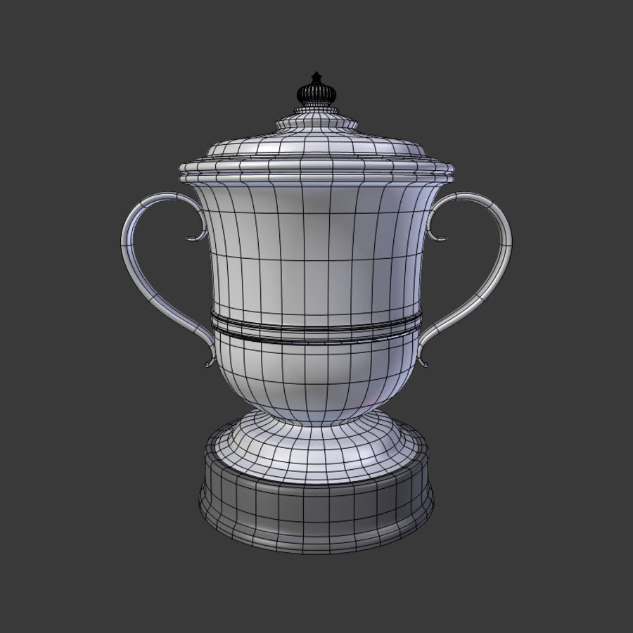 トロフィーカップV2 royalty-free 3d model - Preview no. 5