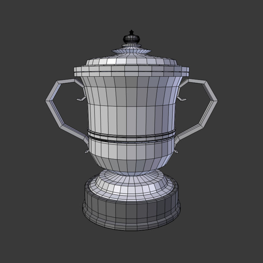 Trophy Cup V2 royalty-free 3d model - Preview no. 6