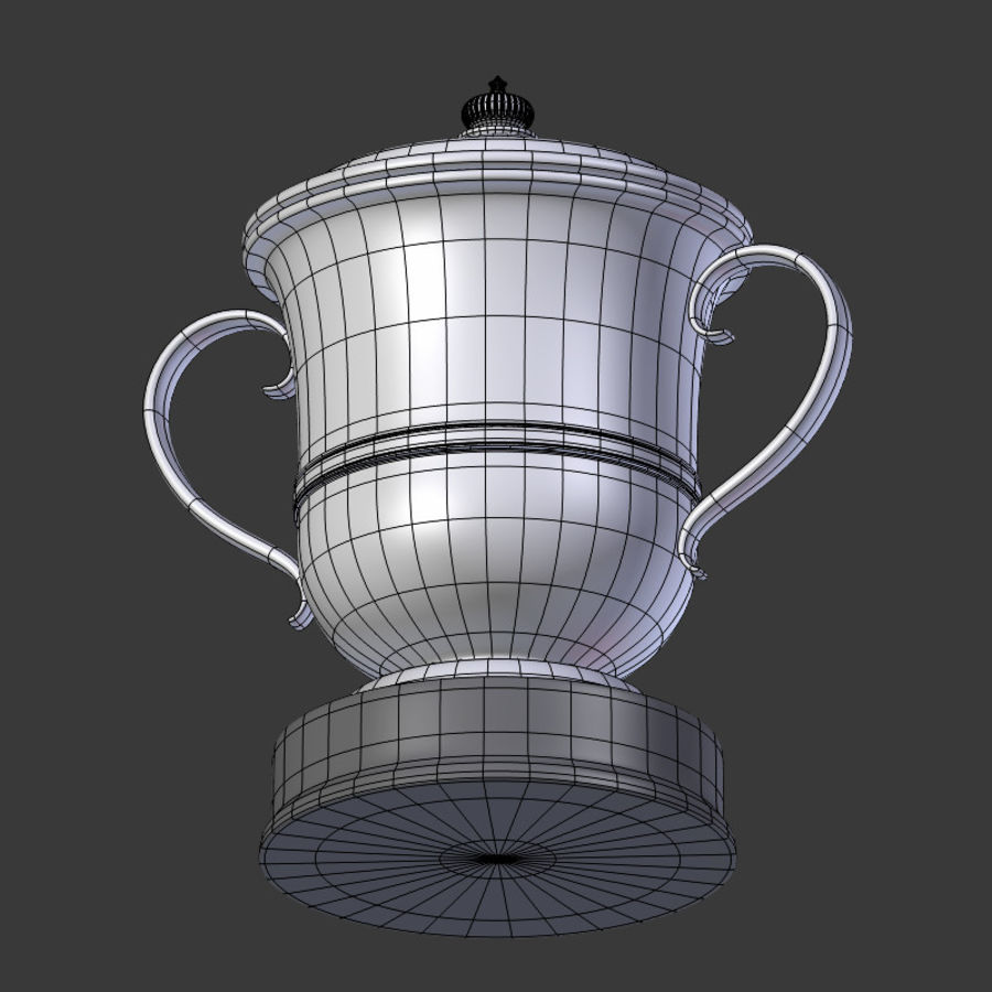 Trophy Cup V2 royalty-free 3d model - Preview no. 15