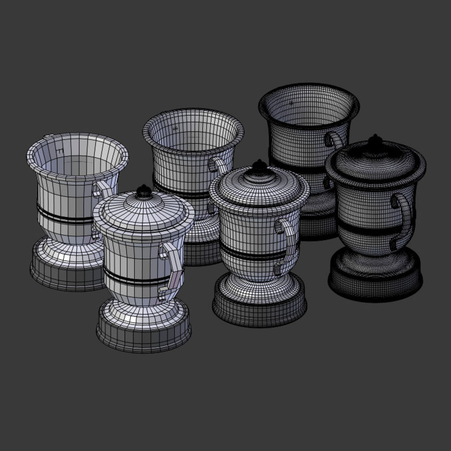 Trophy Cup V2 royalty-free 3d model - Preview no. 19