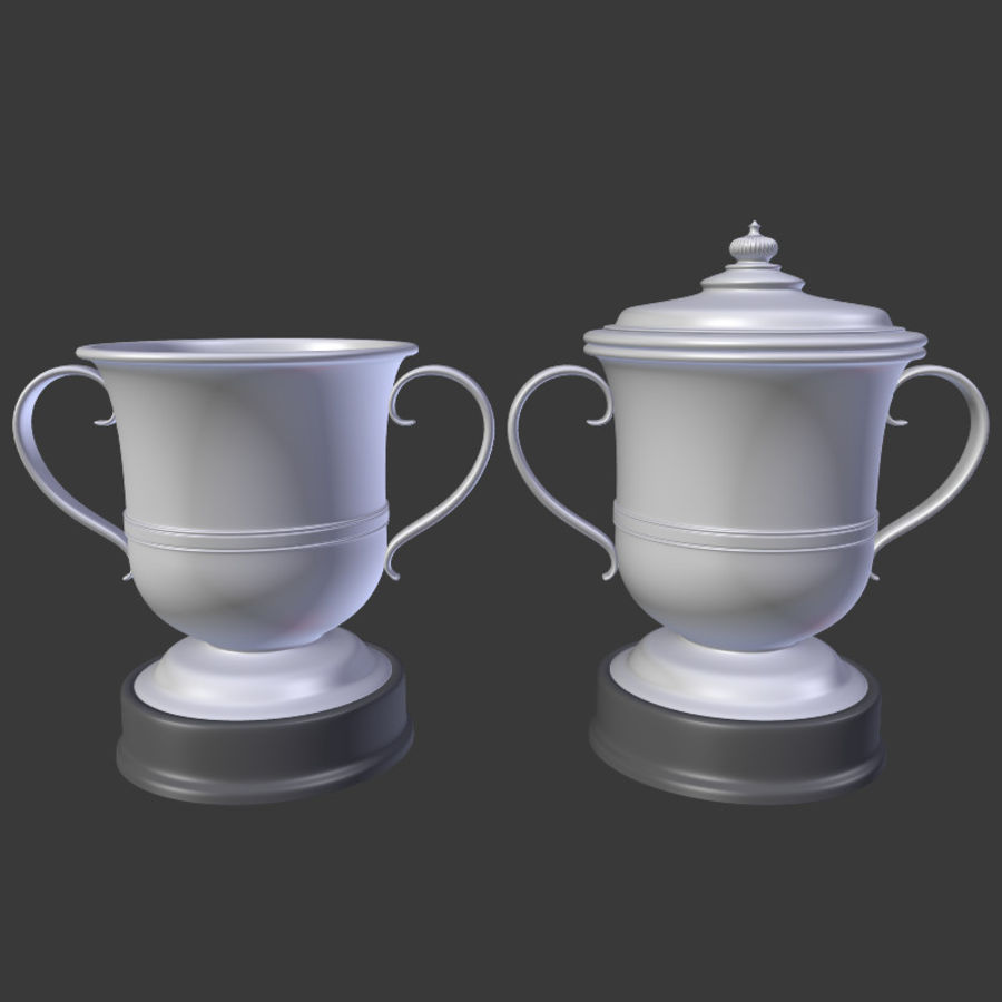 トロフィーカップV2 royalty-free 3d model - Preview no. 3