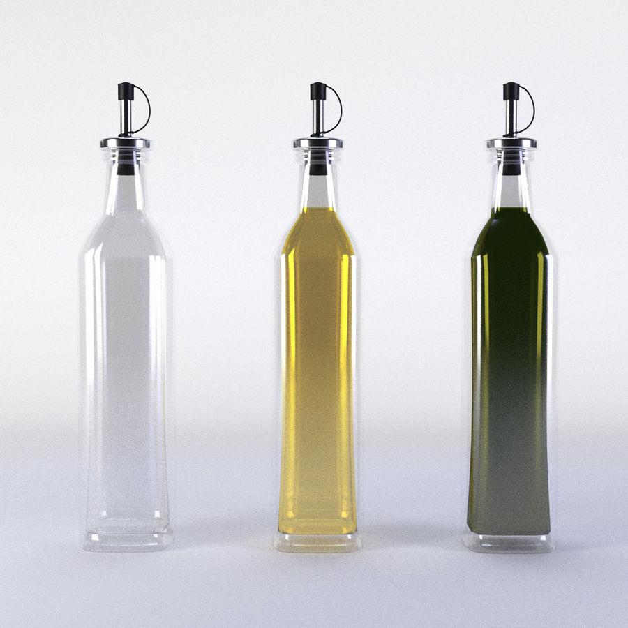 Olive Oil Bottle Set royalty-free 3d model - Preview no. 1