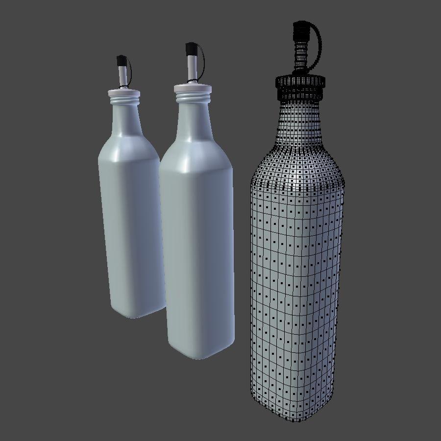 Olive Oil Bottle Set royalty-free 3d model - Preview no. 7
