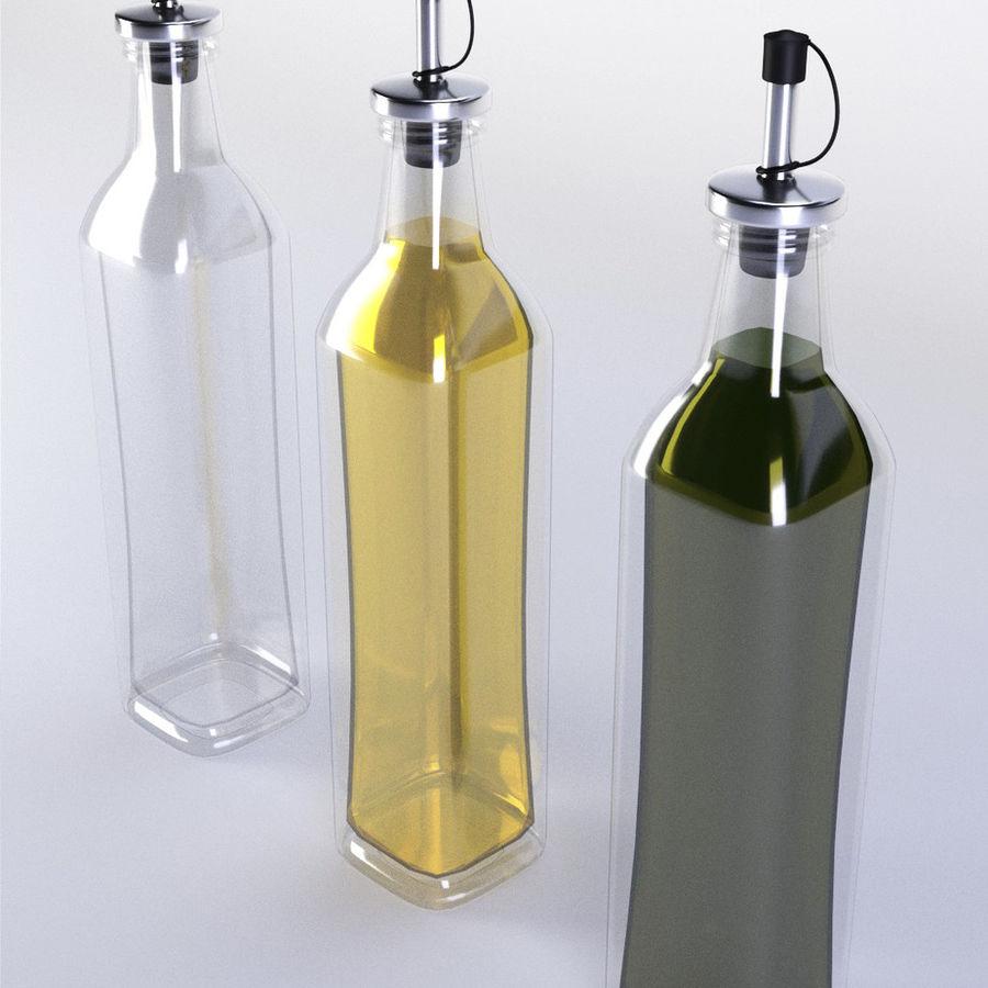 Olive Oil Bottle Set royalty-free 3d model - Preview no. 2