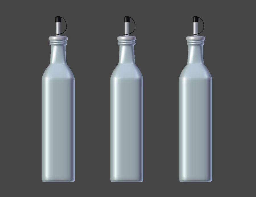 Olive Oil Bottle Set royalty-free 3d model - Preview no. 6