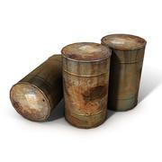 Lowpoly Rusty Oil Barrel 3d model