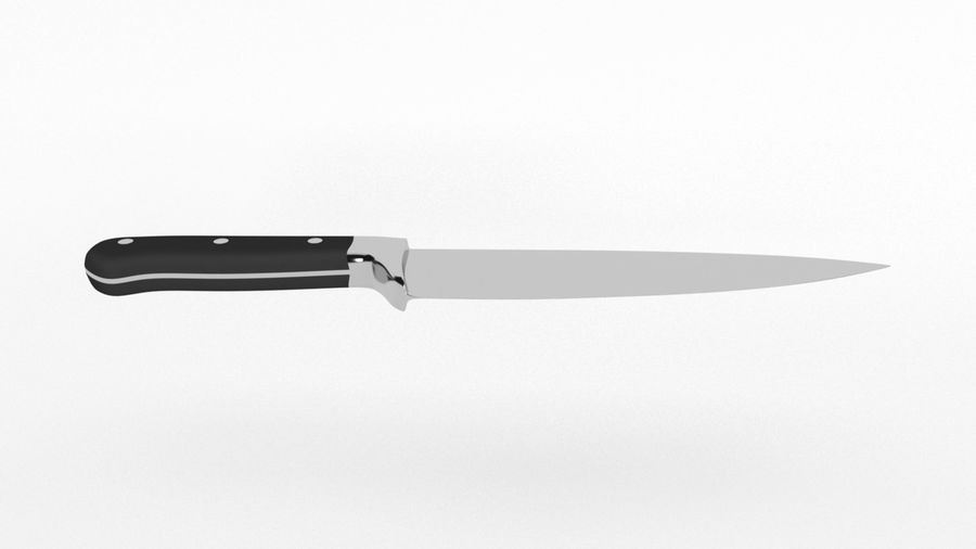 Kitchen Knife royalty-free 3d model - Preview no. 2