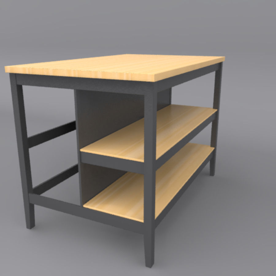 Kitchen Island royalty-free 3d model - Preview no. 5