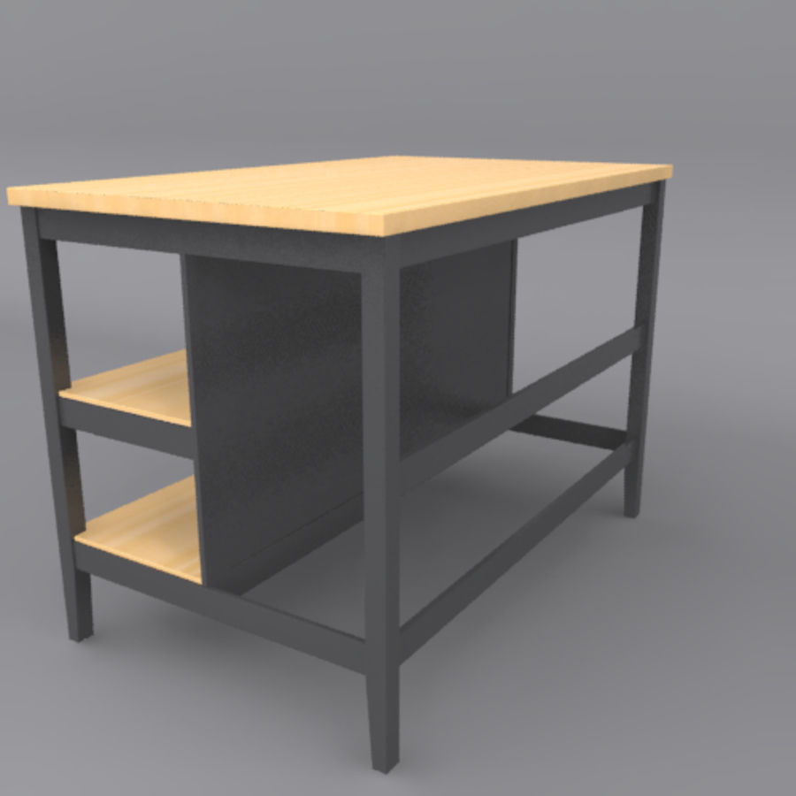 Kitchen Island royalty-free 3d model - Preview no. 3