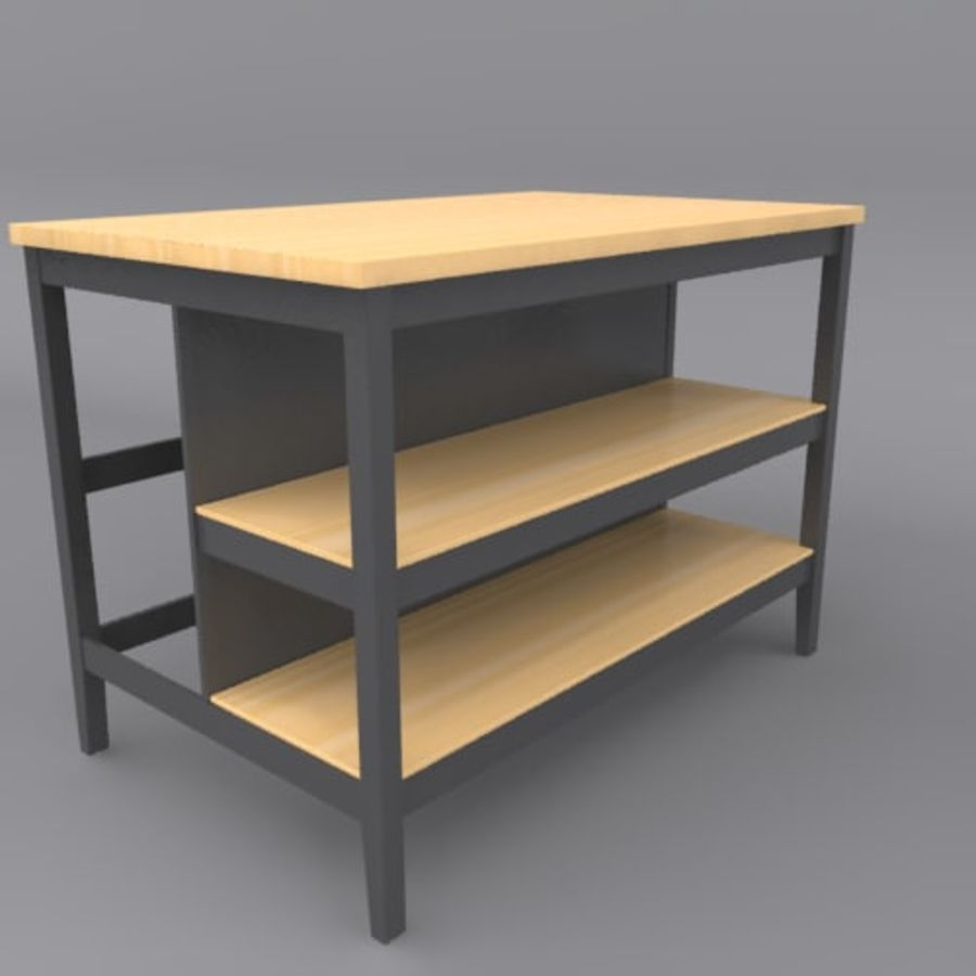 Kitchen Island royalty-free 3d model - Preview no. 6