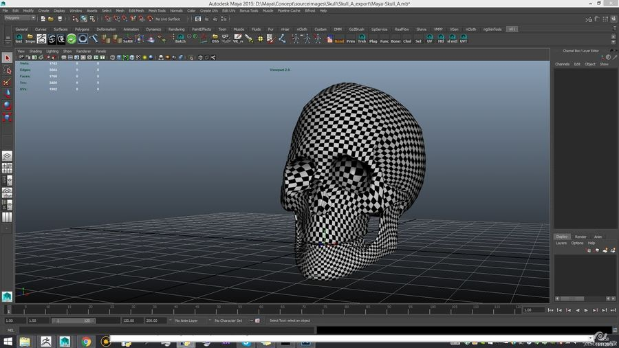 Skull new royalty-free 3d model - Preview no. 20
