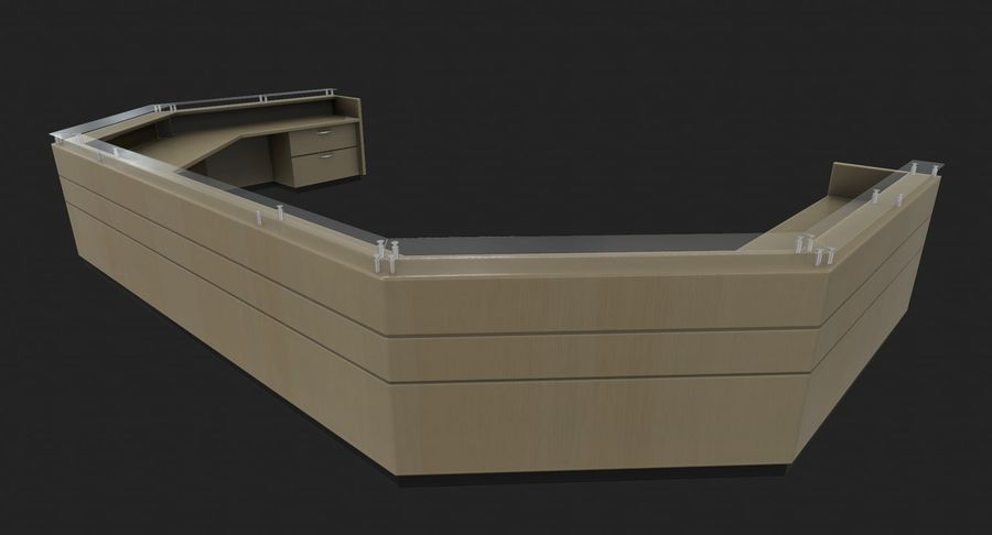 Reception Desk royalty-free 3d model - Preview no. 3