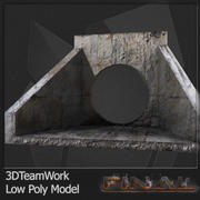Concrete Pipe 01 Low Poly 3d model