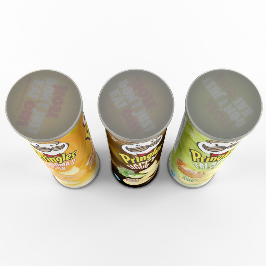 Pringles royalty-free 3d model - Preview no. 6