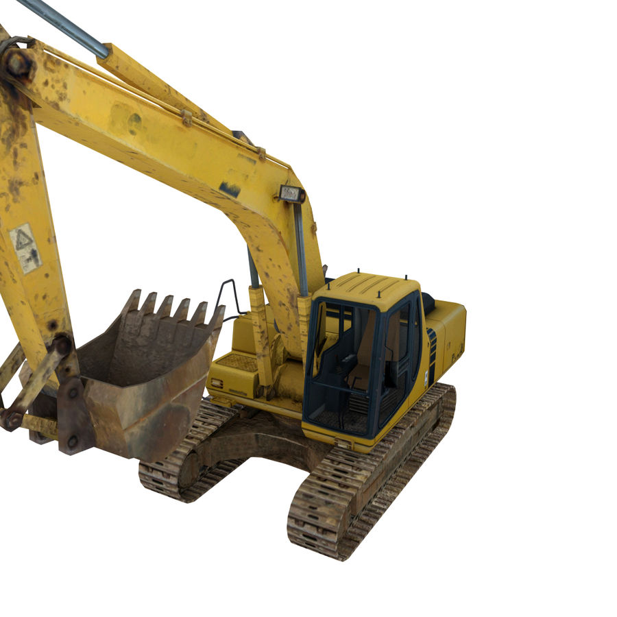 Excavator royalty-free 3d model - Preview no. 1