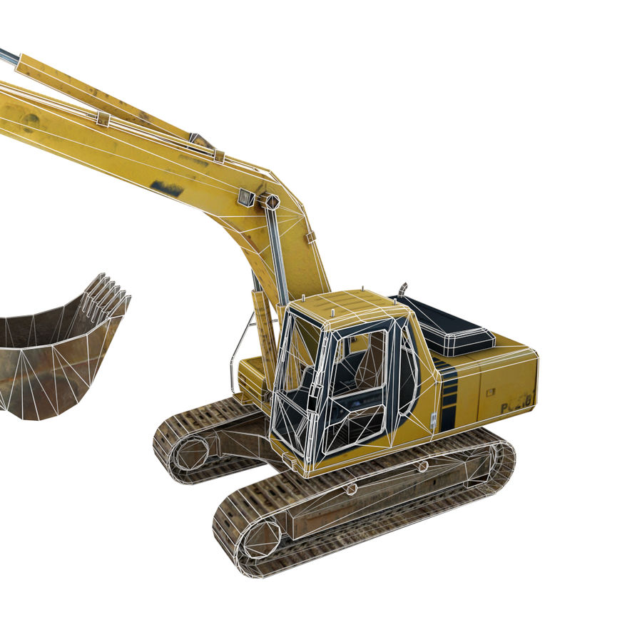 Excavator royalty-free 3d model - Preview no. 4