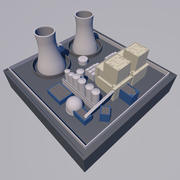 MINI NUCLEAR POWER PLANT 3d model