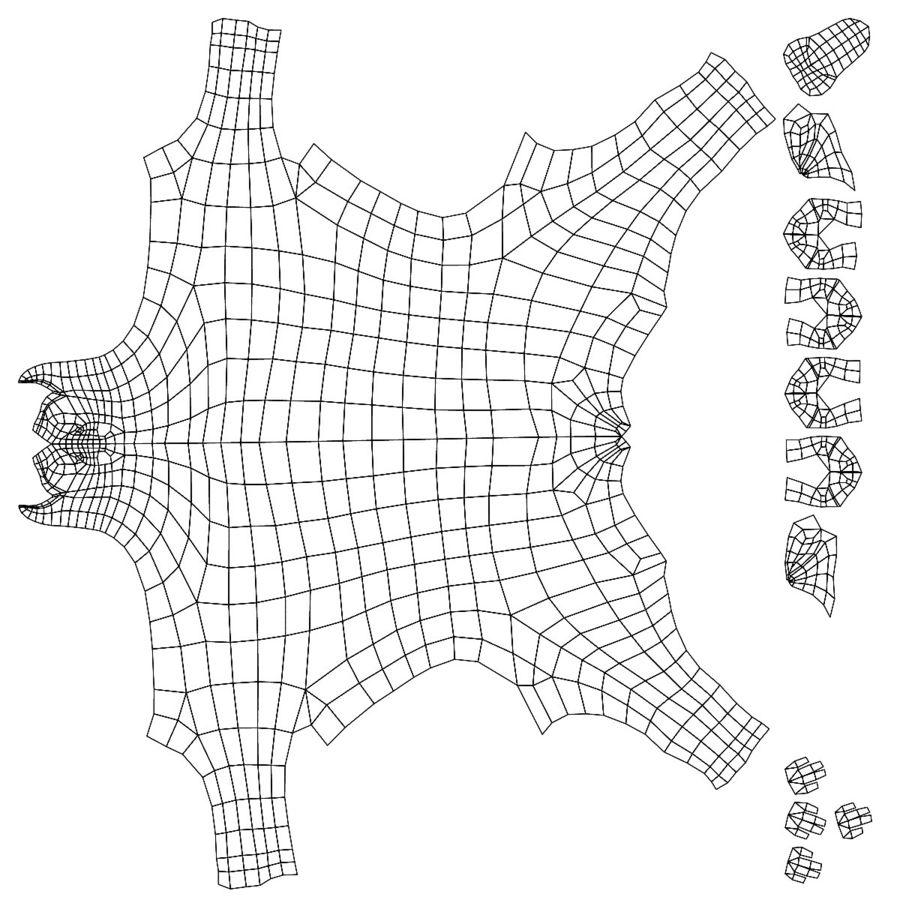 Boxer dog base mesh royalty-free 3d model - Preview no. 7