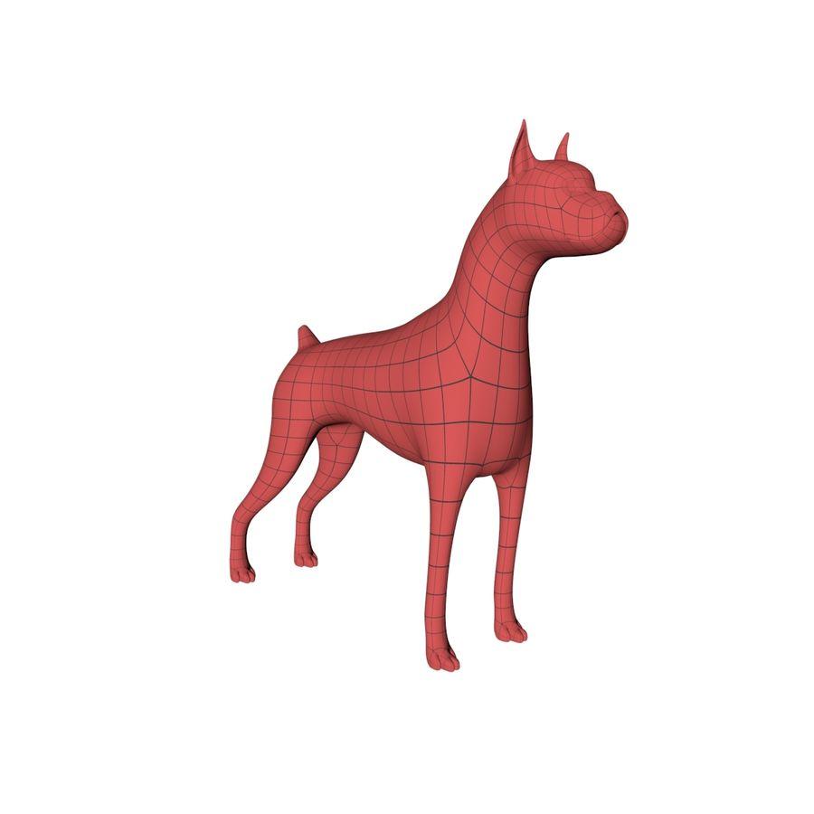Boxer dog base mesh royalty-free 3d model - Preview no. 2
