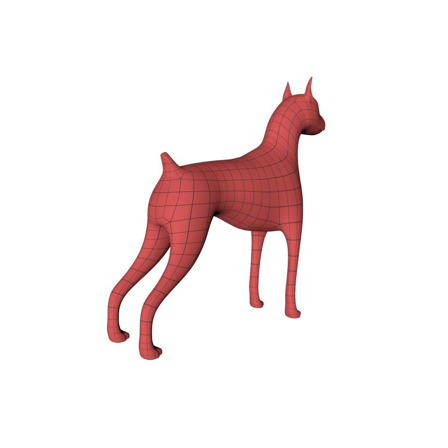 Boxer dog base mesh royalty-free 3d model - Preview no. 6