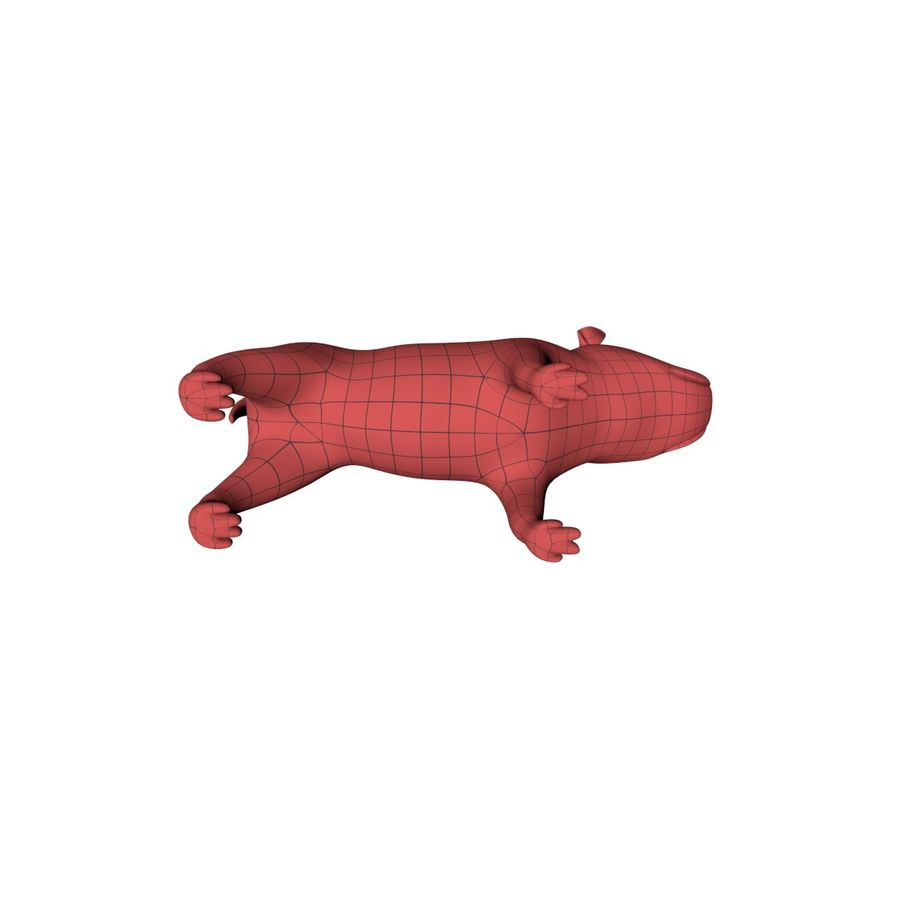 Bulldog base mesh royalty-free 3d model - Preview no. 5