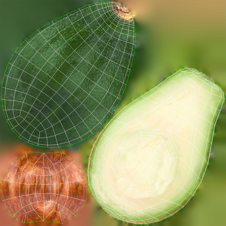 Фотореалистичная авокадо royalty-free 3d model - Preview no. 9