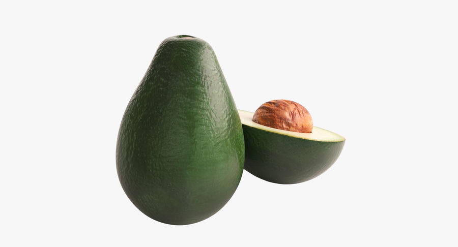Фотореалистичная авокадо royalty-free 3d model - Preview no. 5
