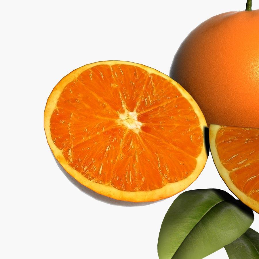Orange frukt royalty-free 3d model - Preview no. 5