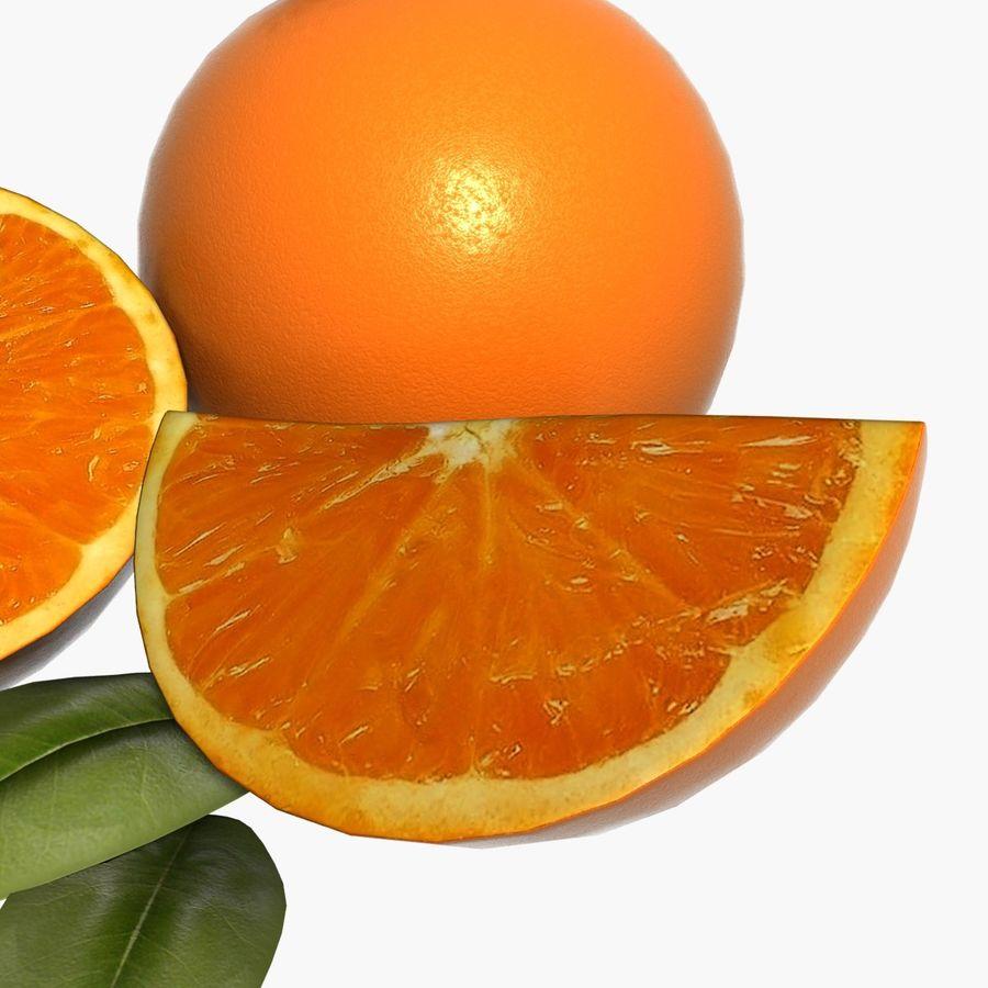 Orange frukt royalty-free 3d model - Preview no. 12