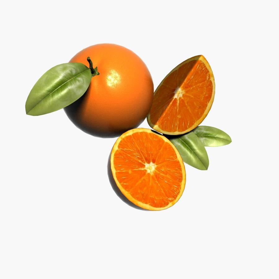 Orange frukt royalty-free 3d model - Preview no. 7