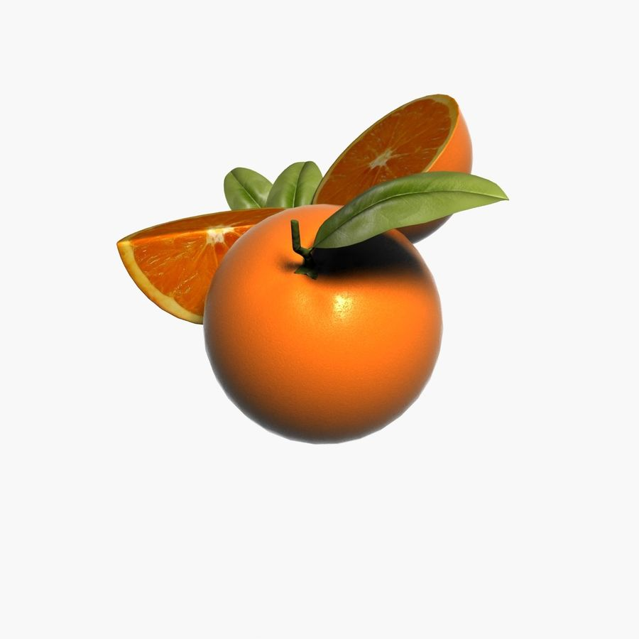 Orange frukt royalty-free 3d model - Preview no. 6