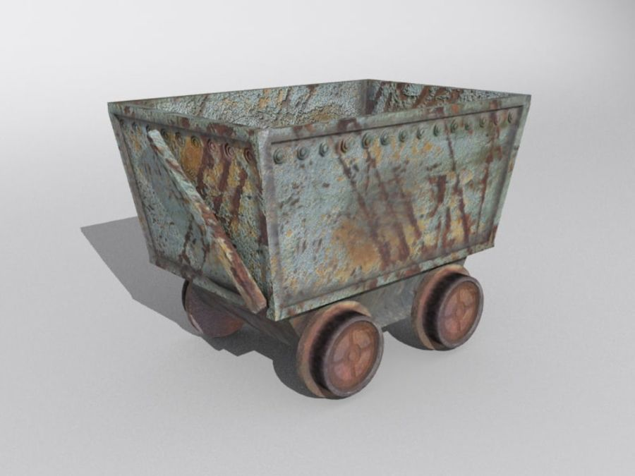 mine car royalty-free 3d model - Preview no. 2