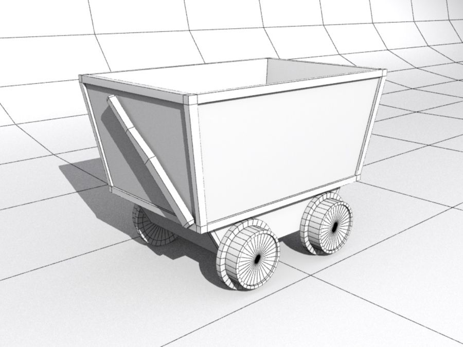 mine car royalty-free 3d model - Preview no. 6