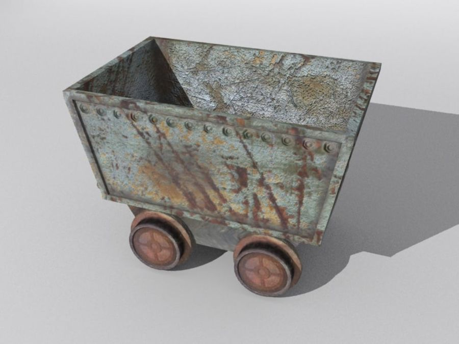 mine car royalty-free 3d model - Preview no. 3